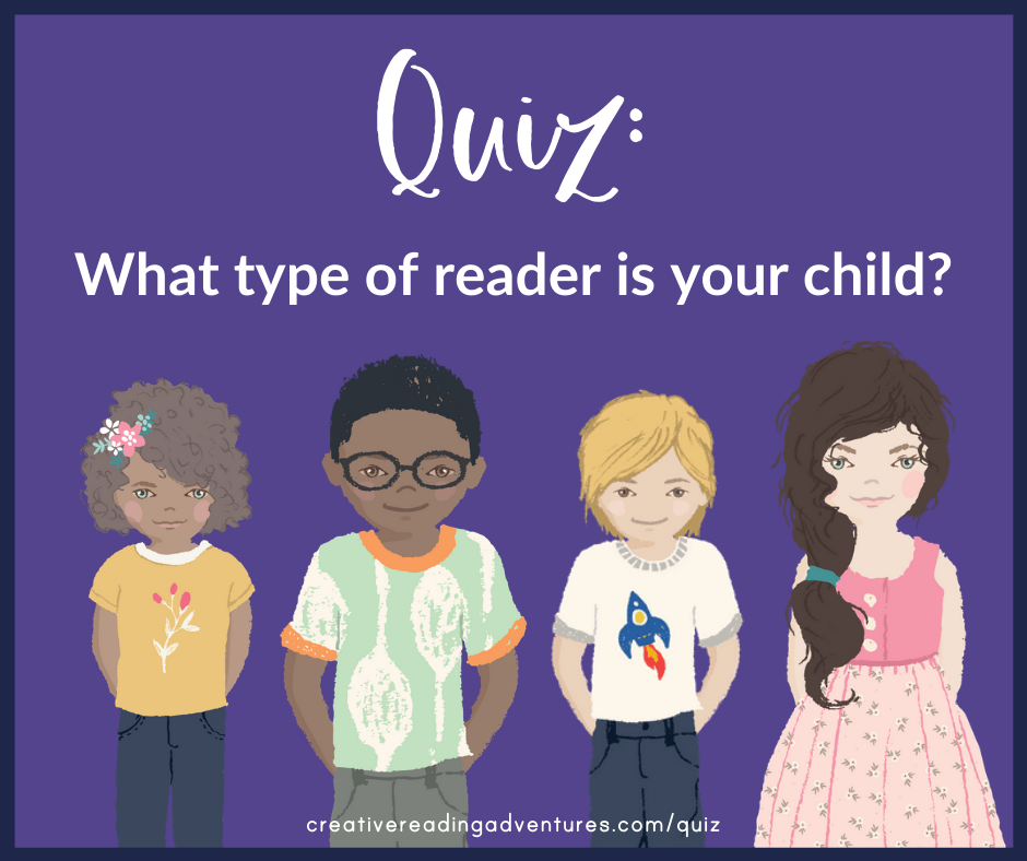 Reading quiz to determine your child's reader type and provide a summer reading list