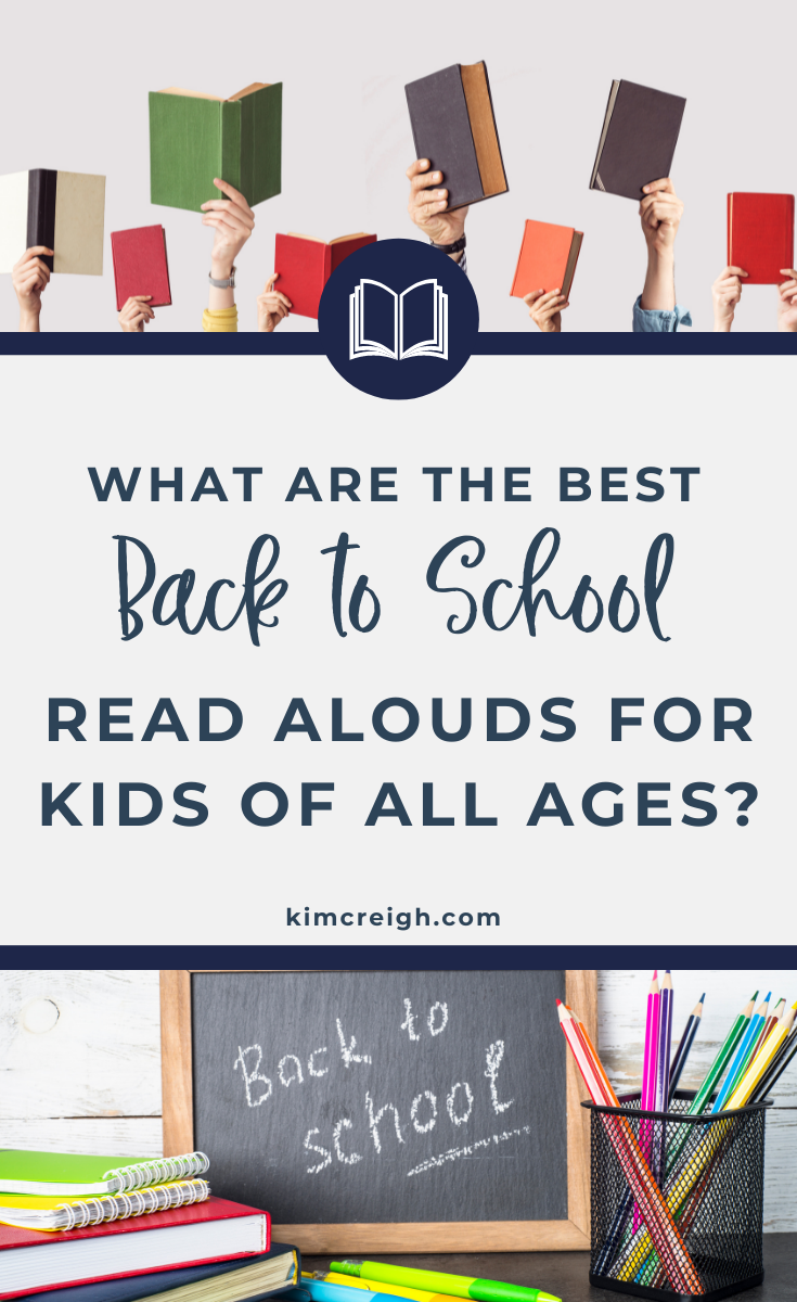 Kids holding books to show the best read alouds for kids of all ages